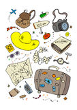 Cartoon beach symbols. Stock Photography