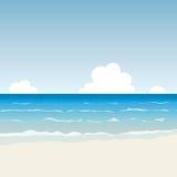 Cartoon Beach. Vector illustration of serene cartoon beach Royalty Free Stock Images