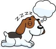 Cartoon Beagle Dreaming Royalty Free Stock Photos