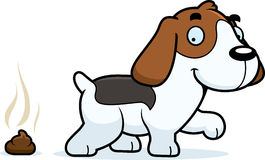Cartoon Beagle Poop Stock Photography