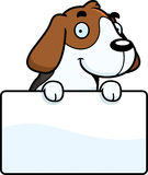 Cartoon Beagle Sign Stock Image