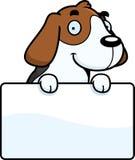 Cartoon Beagle Sign Stock Image