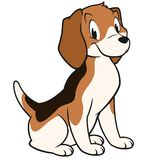 Cartoon Beagle Royalty Free Stock Photos