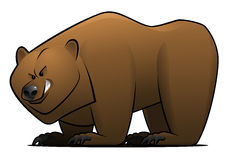 Cartoon Bear. Vector illustration of a brown cartoon bear royalty free illustration