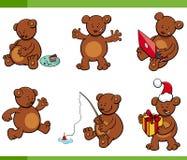 Cartoon bear animal characters set Stock Photo