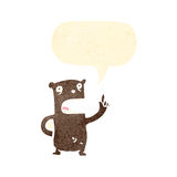 Cartoon bear asking question Royalty Free Stock Image