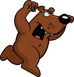 Cartoon Bear Attacking Royalty Free Stock Photo