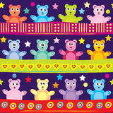 Cartoon bear background Royalty Free Stock Photography