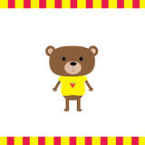 Cartoon bear boy card Stock Image