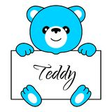 Cartoon bear boy Stock Images