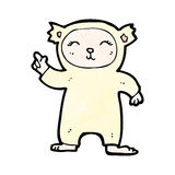 Cartoon bear costume Royalty Free Stock Image