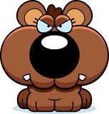 Cartoon Bear Cub Angry. A cartoon bear cub with an angry expression vector illustration