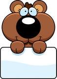 Cartoon Bear Cub Sign Royalty Free Stock Photography
