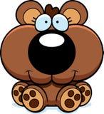 Cartoon Bear Cub Sitting Stock Image