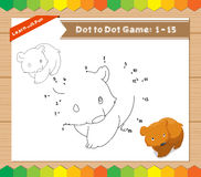 Cartoon Bear. Dot to dot educational game for kids Royalty Free Stock Photos