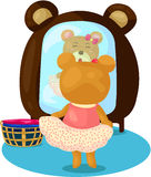 Cartoon bear dress up Royalty Free Stock Photos