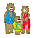Cartoon bear family cute bears Royalty Free Stock Photo