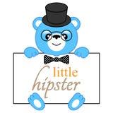 Cartoon bear hipster Royalty Free Stock Photo