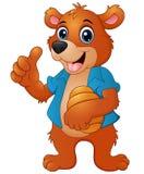Cartoon bear holding honeycomb Stock Images