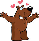 Cartoon Bear Hug. A cartoon illustration of a bear ready to give a hug stock illustration