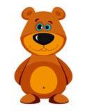 Cartoon bear. Isolated on white Stock Photos