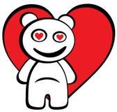 Cartoon bear in love Stock Photos
