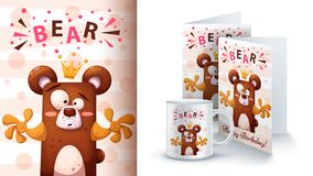 Free Cartoon Bear - Mockup For Your Idea. Stock Images - 150557704