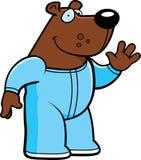 Cartoon Bear Pajamas. A cartoon illustration of a bear wearing pajamas Stock Image