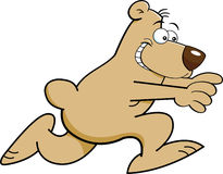 Cartoon bear running Stock Photography