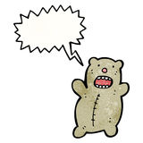 Cartoon bear shouting Stock Images