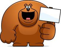 Cartoon Bear Sign Royalty Free Stock Photo