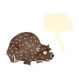 Cartoon bear with speech bubble Royalty Free Stock Photography