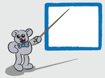 Cartoon Bear Teaching with Whiteboard Stock Photo