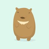 Cartoon bear. Vector EPS 10 hand drawn illustration Royalty Free Stock Photography
