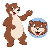 Cartoon Bear. Vector illustration of a funny bear for design element Stock Images