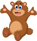 Cartoon bear waving hand Royalty Free Stock Images