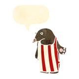 Cartoon bear wearing apron Stock Photos