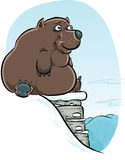 Cartoon Bear in Winter Royalty Free Stock Photo