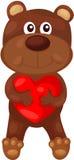 Cartoon Bear With Heart Stock Image