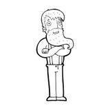 Cartoon bearded hipster man Stock Image