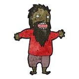 Cartoon bearded man Royalty Free Stock Photography