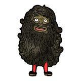 cartoon bearded man Royalty Free Stock Photo