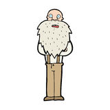 cartoon bearded old man Royalty Free Stock Photo