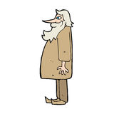 cartoon bearded old man Stock Photo