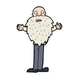 Cartoon bearded old man Stock Images