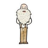 Cartoon bearded old man Royalty Free Stock Photo