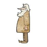 Cartoon bearded old man Stock Photos