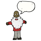 Cartoon bearded old man with speech bubble Royalty Free Stock Photo
