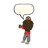 cartoon bearded old man with speech bubble Stock Photography