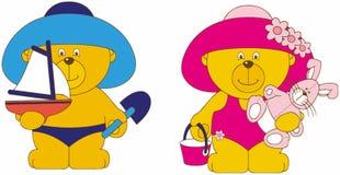Cartoon bears Royalty Free Stock Image